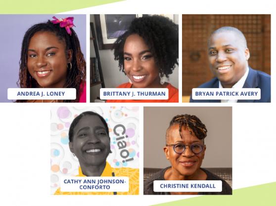 pictures of 5 Black children's lit creators